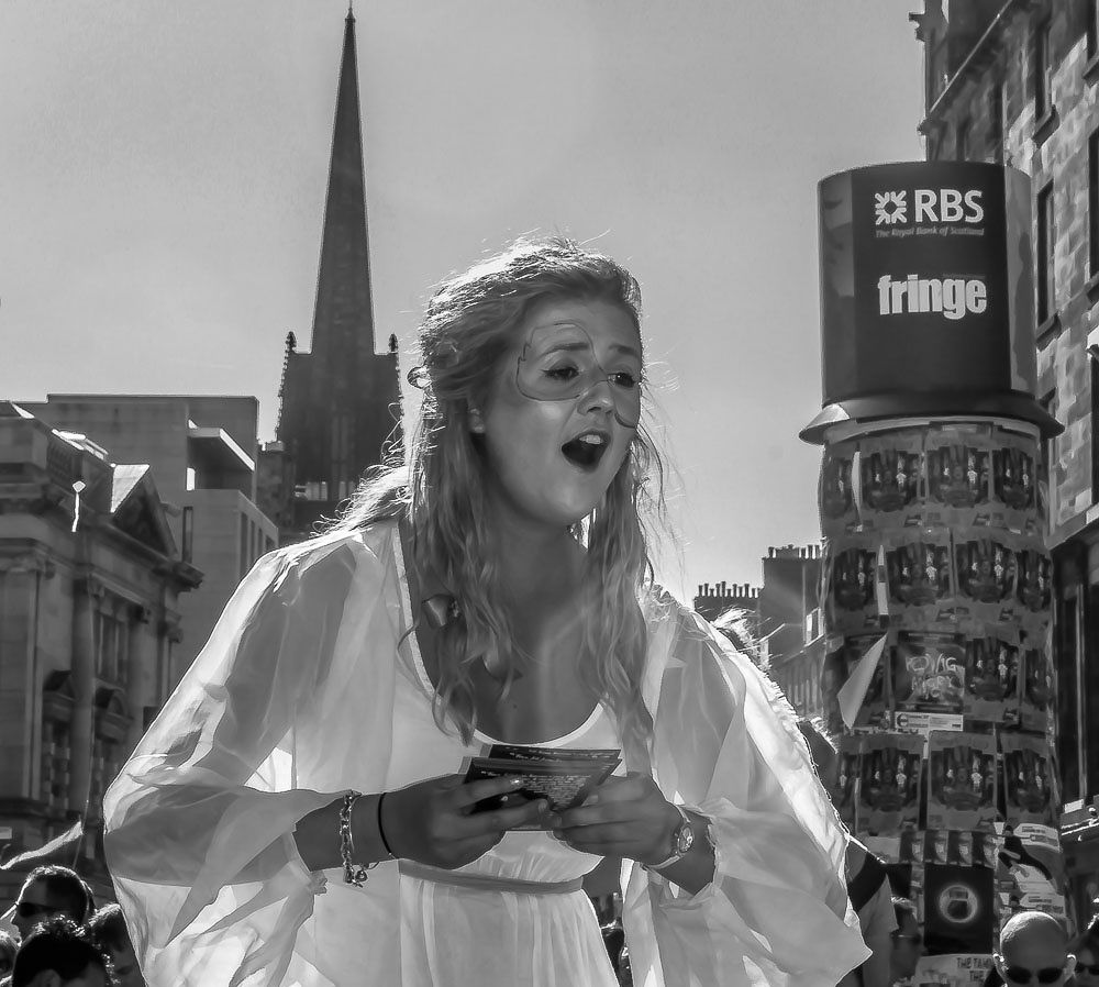 Photo in People #edinburgh #fringe #singer #street