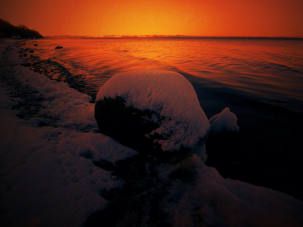 winter sunset at the beach / more of my stuff at https://www.facebook.com/heartpic.gallery by Markus Pentti Pylväläinen