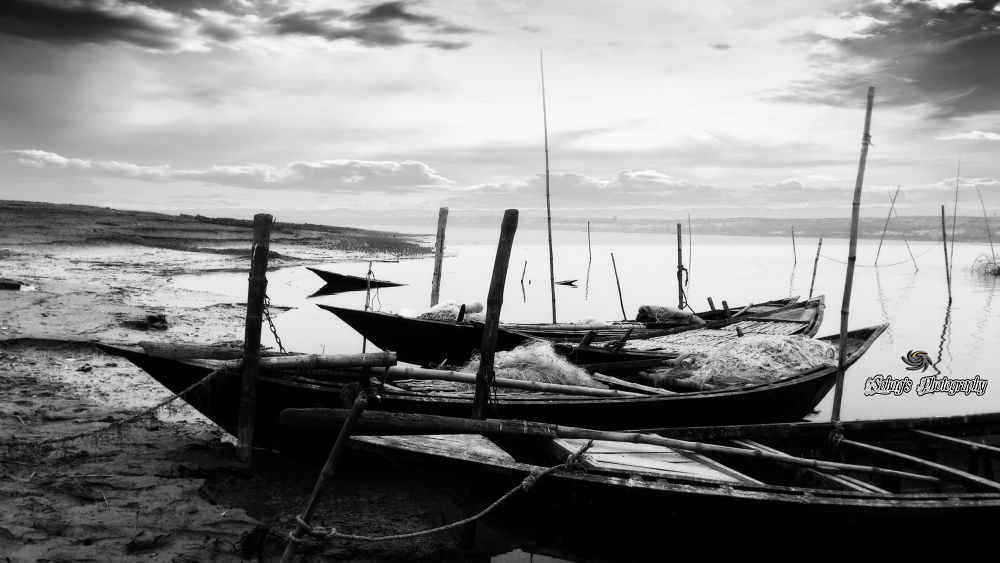 Photo in Black and White #b&w #river #boat