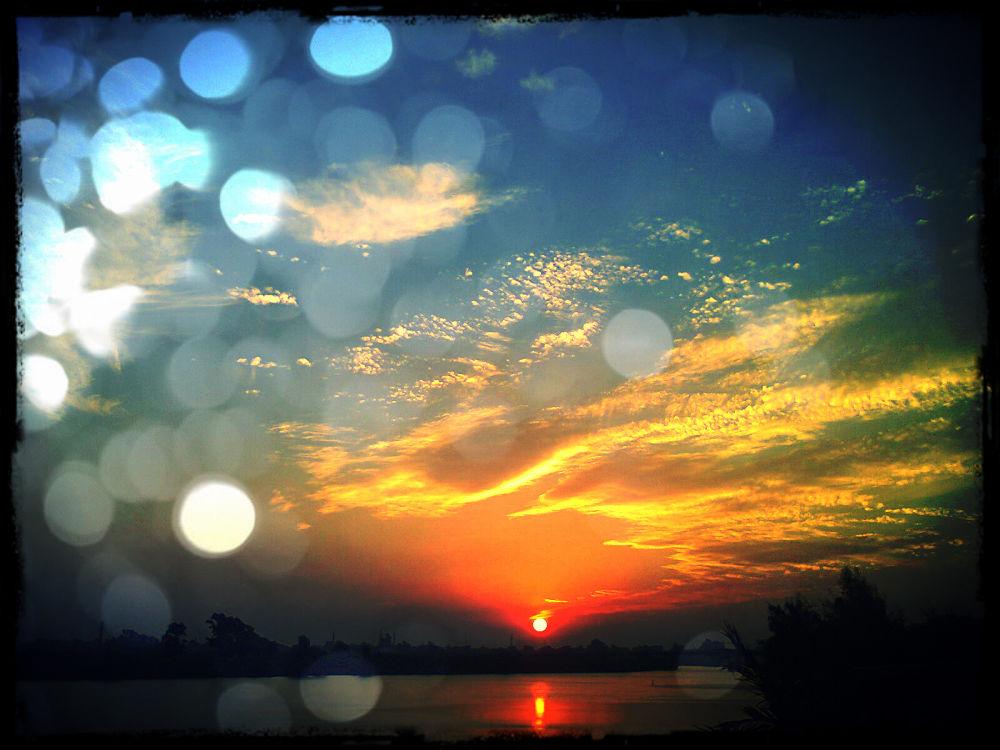 sunset by hobooo