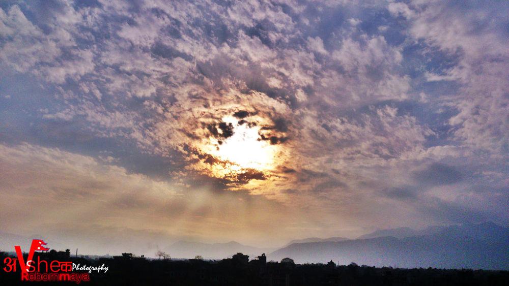 Fire On BlueSky by Nepali-Abhishek Shrestha
