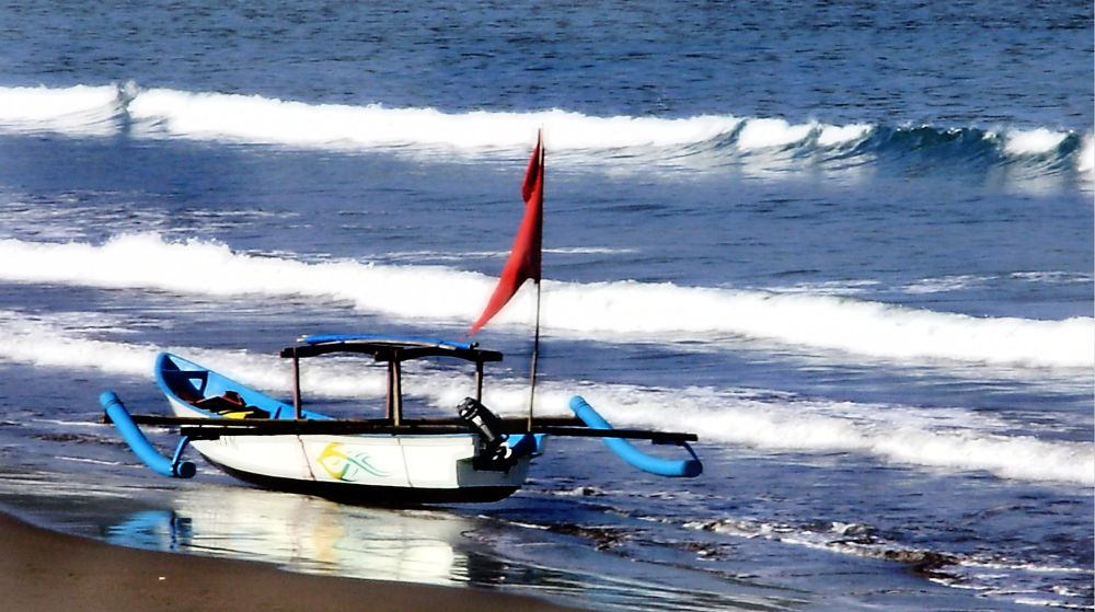 Photo in Sea and Sand #beach #west java #indonesia