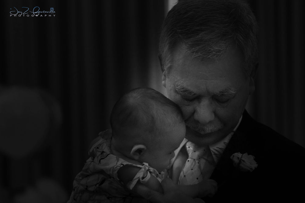The grandfather & the granddaughter by Michael Jason Fontanilla