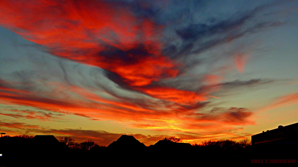 Burning Dramatic Sky by Thera X Photography
