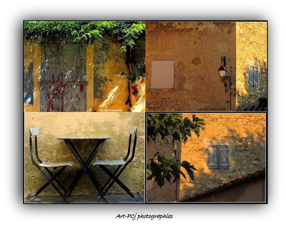 Luberon postal card by Pascale Jaouen Art PCj
