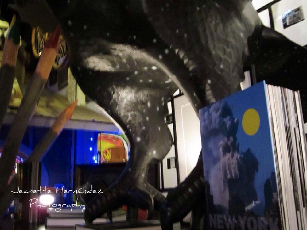 dinosaur and WTC 911 by nomediga