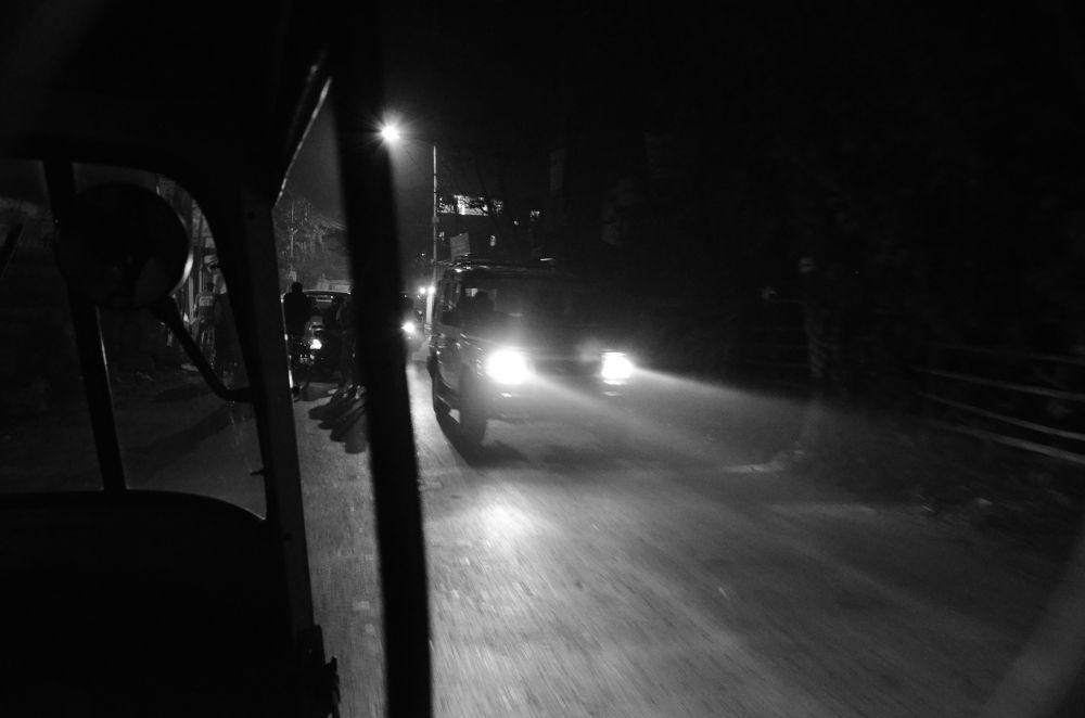 foggy night by mithunn chakraborty