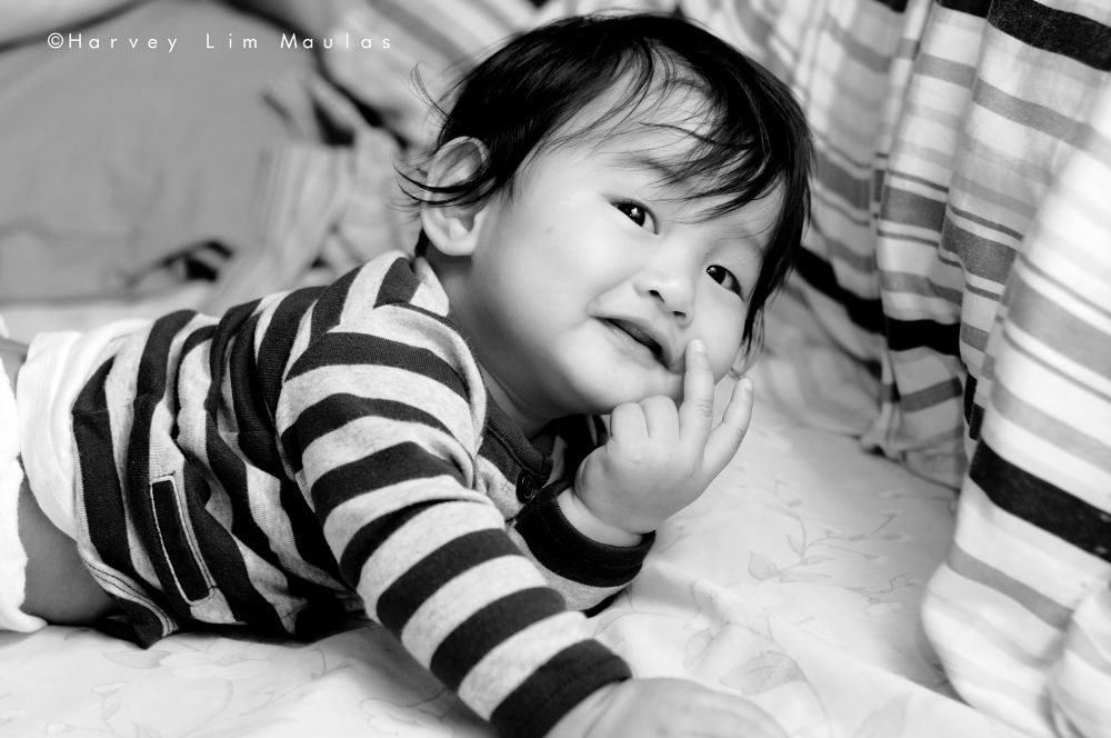 Photo in Black and White #baby