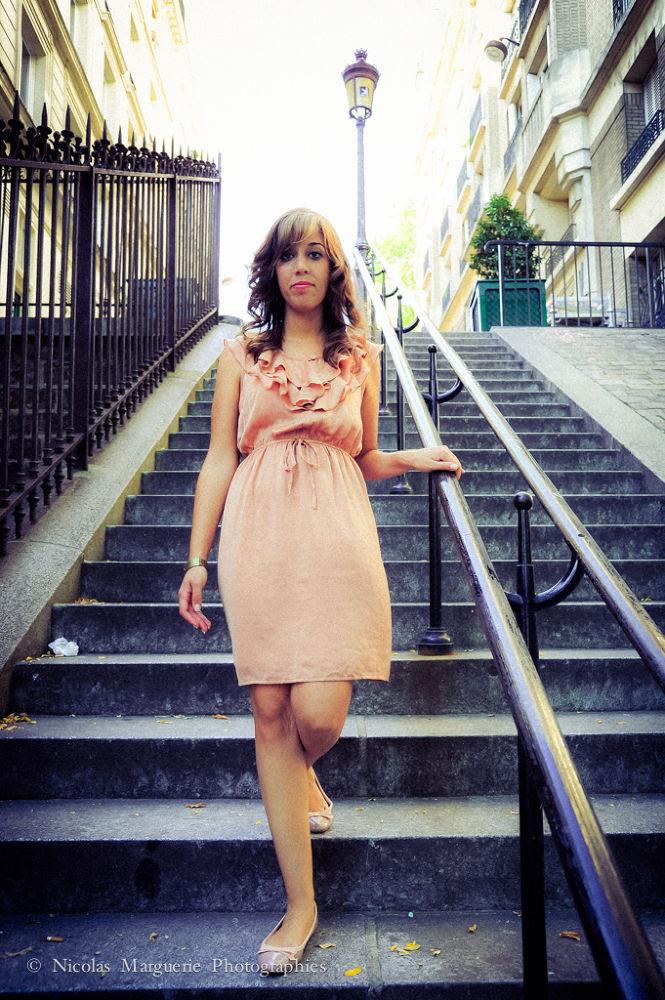 Photo in People #sofia #france #paris #femme #woman #fille #girl #portrait #personne #people #montmartre #escaliers