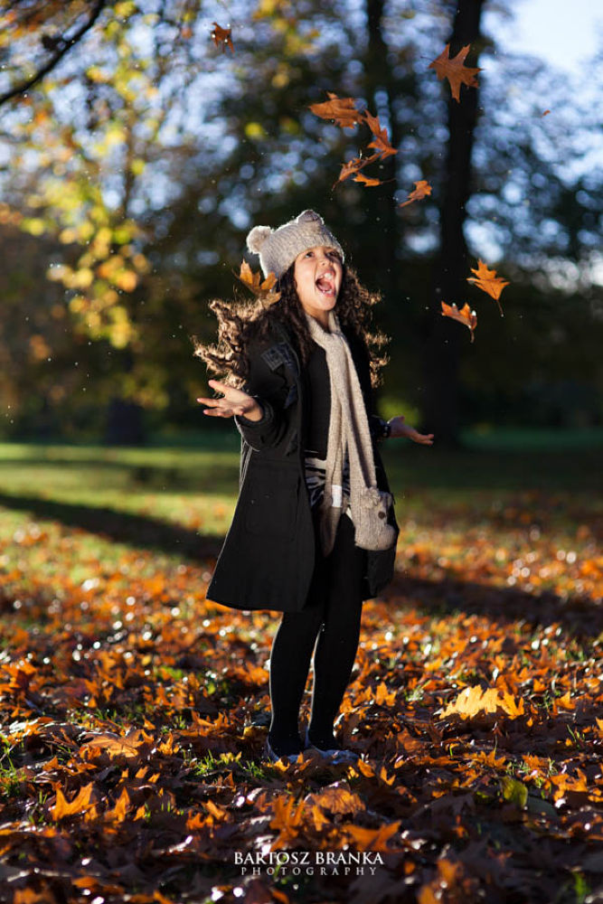 Photo in Portrait #girl #smile #laughter #fun #outdoor #portrait #park #autumn