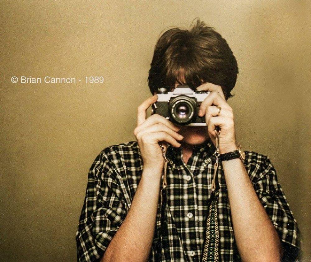 Self portrait, Los Angeles, California. 1989. by Brian Cannon
