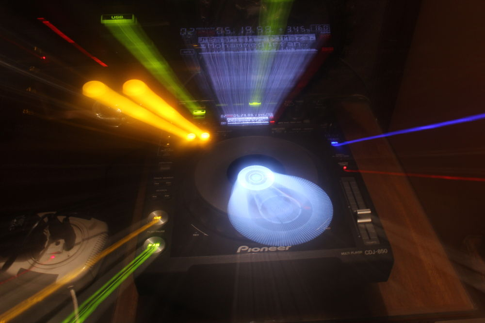 This is my DJ player !  ..i was just experimenting with my camera :) by Gaurang Goyal