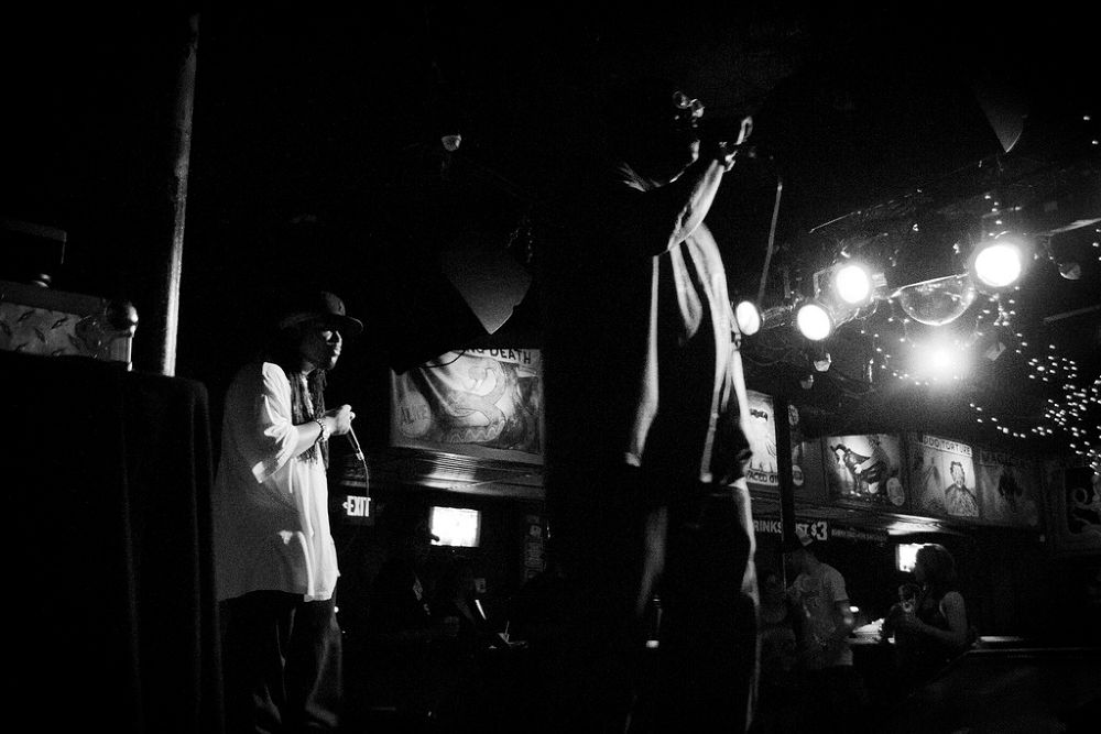 Ohio native hip hop artist Lord Hakim, Phizz Ed, and Doc Gigglz preforming @The Circus bar Columbus  by kcphotography614