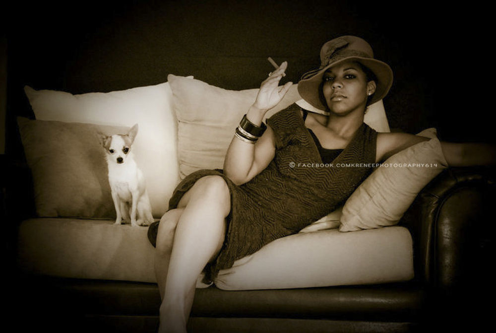 This is my beautiful cusion, the best part of the photo is we didn't plan on having the dog in the s by KReneePhotography