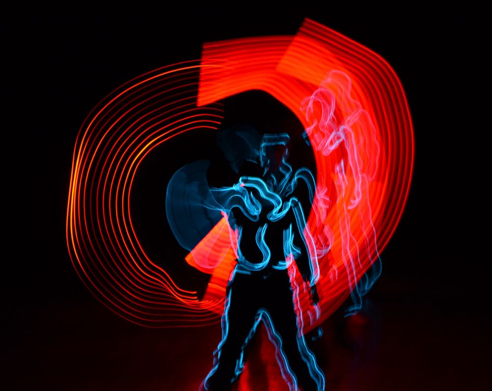 Photo in Fine Art #lighting #dance #art #night