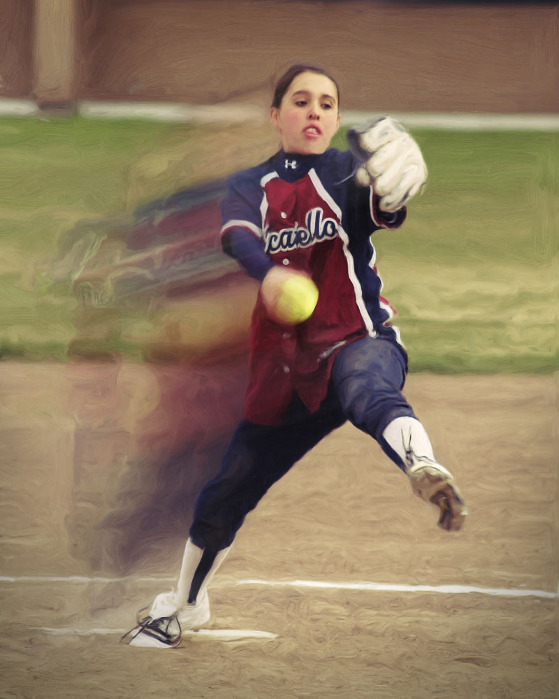 Digital Painting Softball by Bosquez_Photography