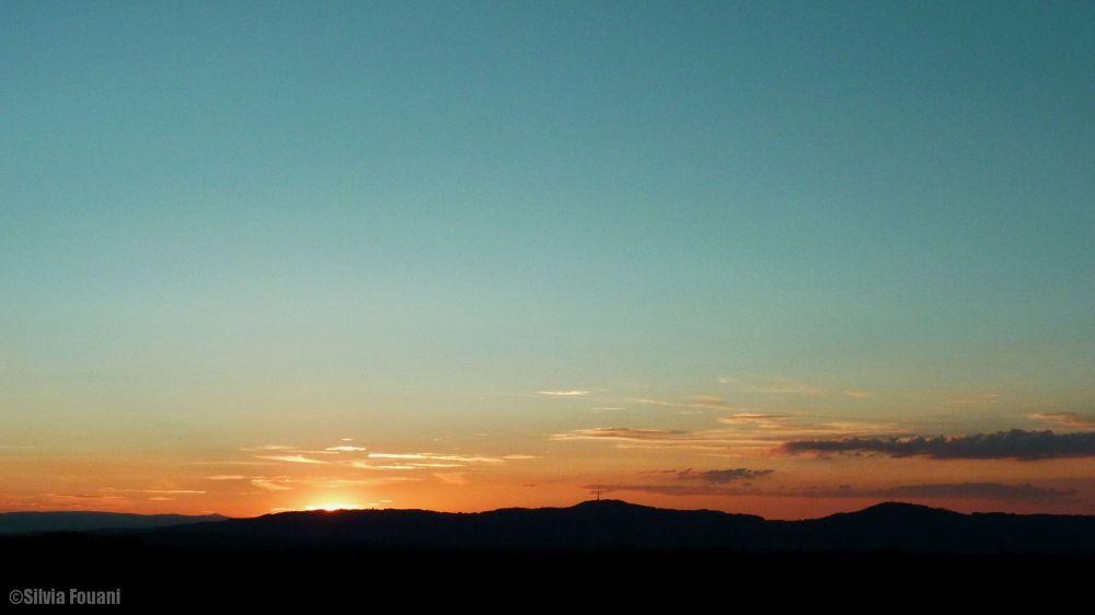Sunset behind Kaiserstuhl  by SilviaPhotos