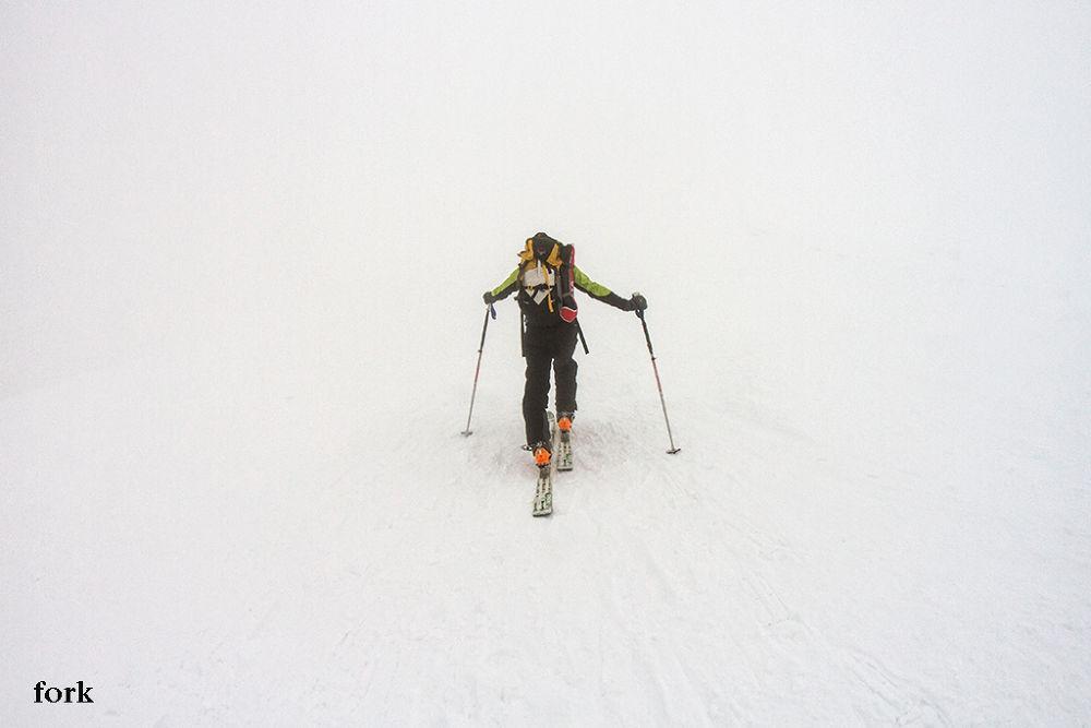 ski tour in the mist by marioforcherio