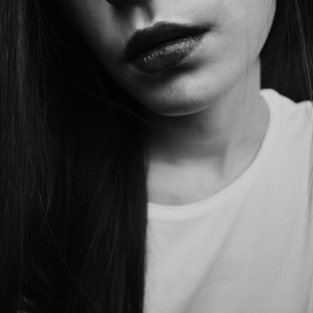 Black lips by MathildaPhotography