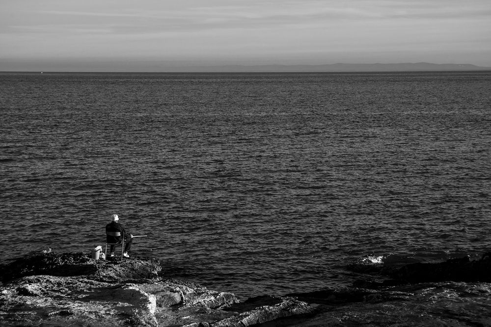the fisherman and the sea by Michele Vitulano