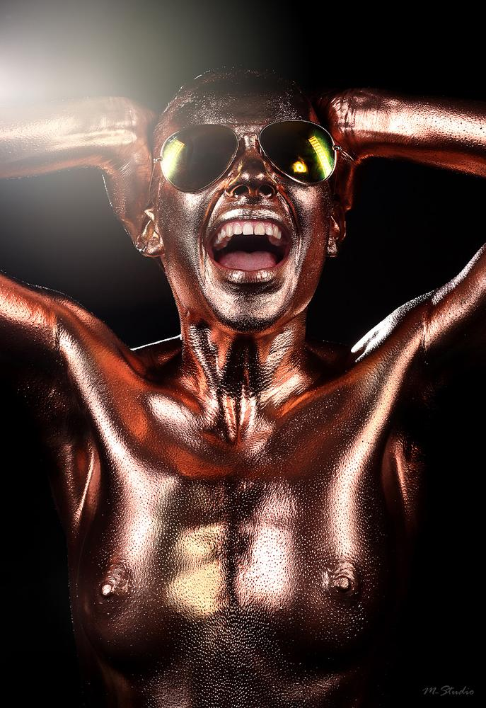 Photo in Fashion #mstudio #bodyart #makeup #model #bronze