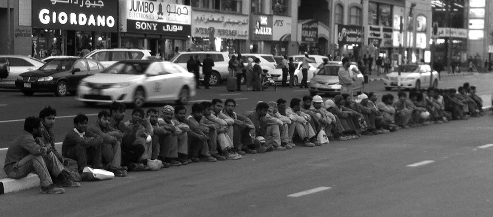 a group of workers @ the street by Angelito Tan de Jesus