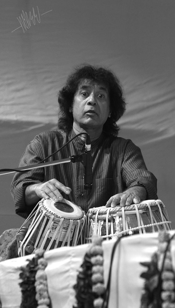 Tabla Player - Ustad Zakir Hussen - India -6 by maheshaute