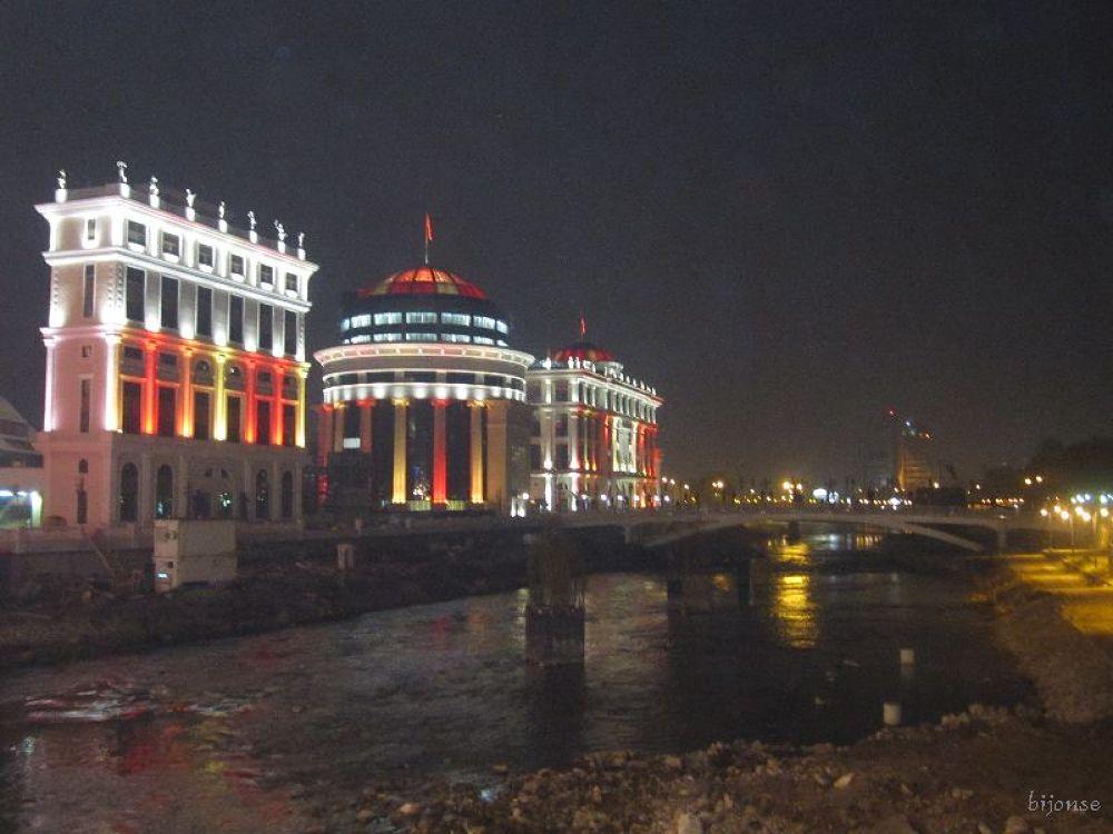by the river of Vardar , Skopje , Mkd by bijonse