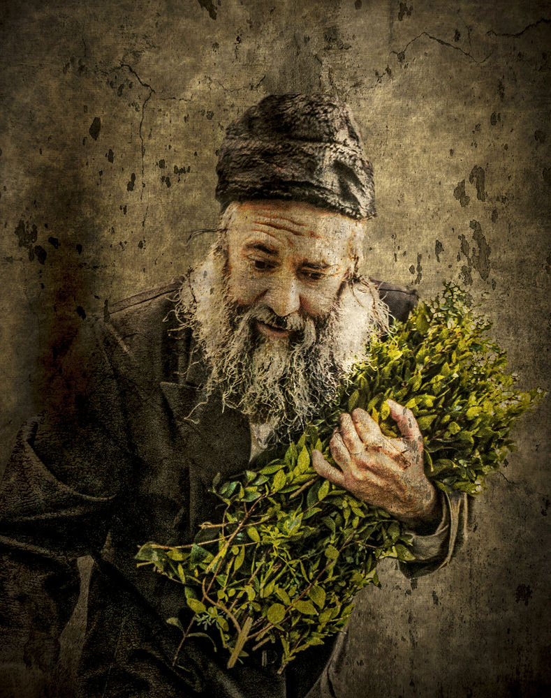 Old Man with myrtle by Max Shamota