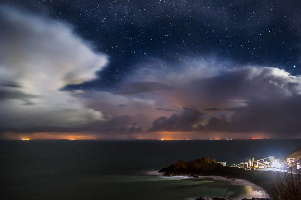 Sorrel Point, The French coast from Jersey. by Marc Whitehead