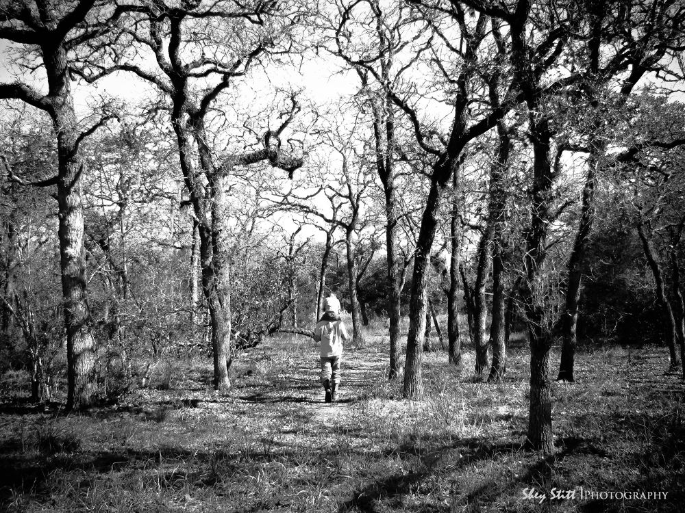 A Walk In The woods - Father & Son by sheystittphotography