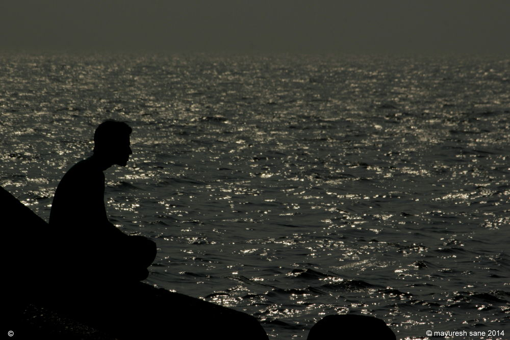 Meditation on the sea side... by mayur.sane