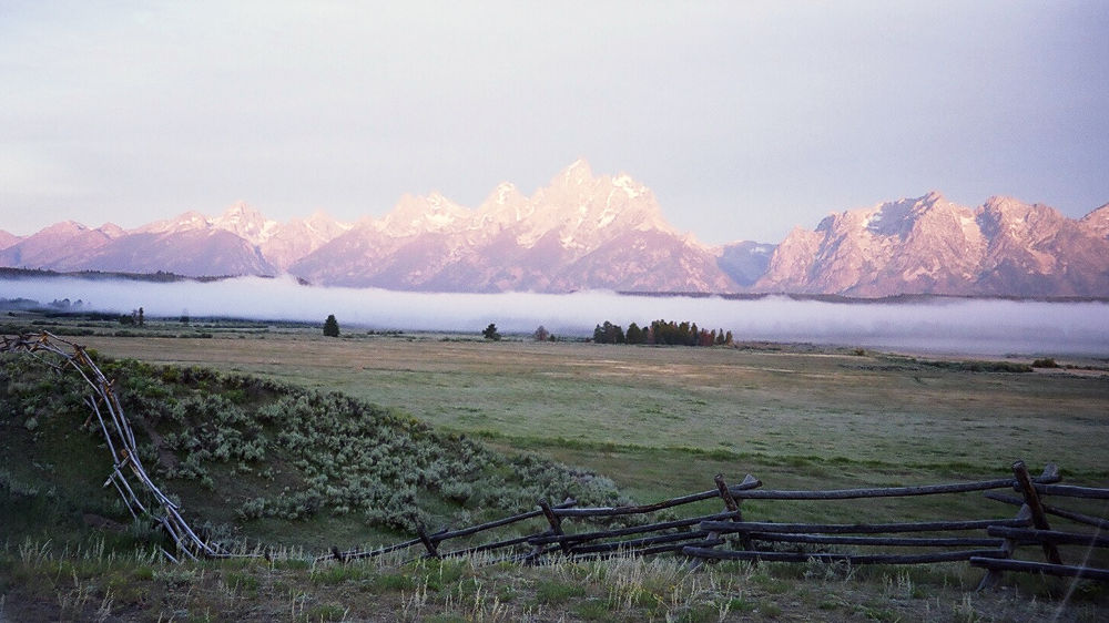 Grand Tetons at Sunrise by dhphoto