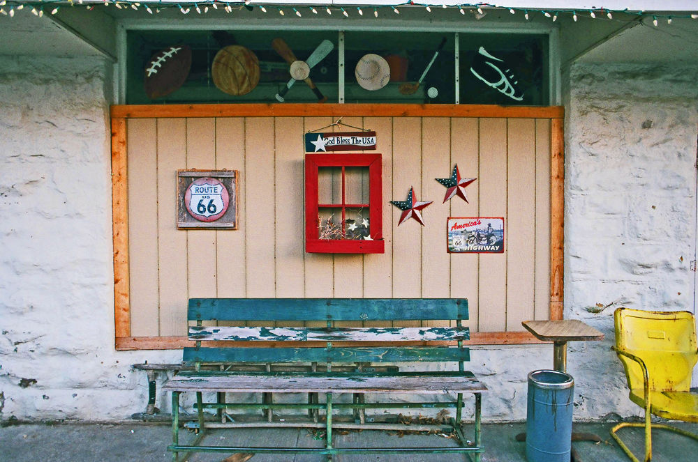 Along Route 66 - Nikon F2 & Fujicolor 200 by dhphoto