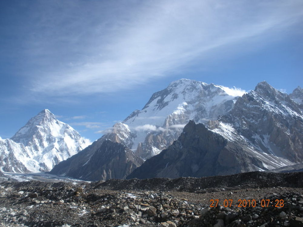 K2 and Broad Peak from Concordia  by Naz