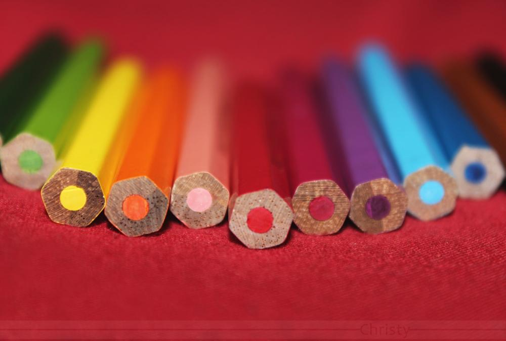 Photo in Still Life #colors #crion #pencil #red #back #rainbow