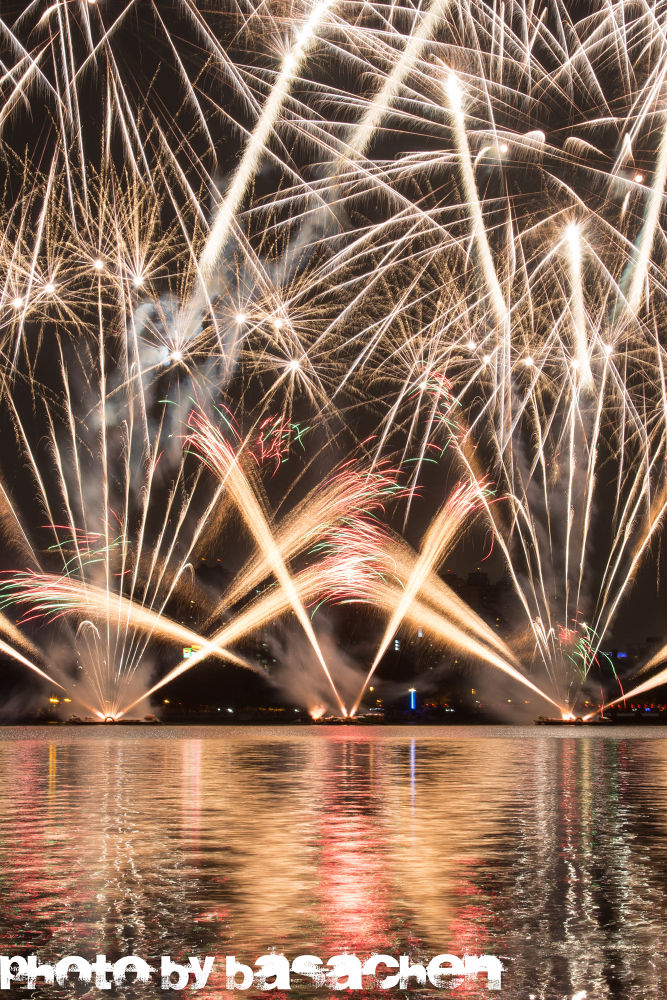 firework /蓮池潭 Kaohsiung , Taiwan by Basa Chen