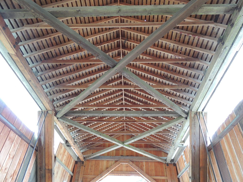 Inside the covered bridge by Corinne Gording