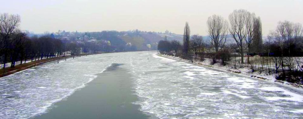 Neckar river  by Rose Burger