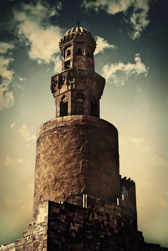 The spiral minaret of Ibn Tulun Mosque by deepidea