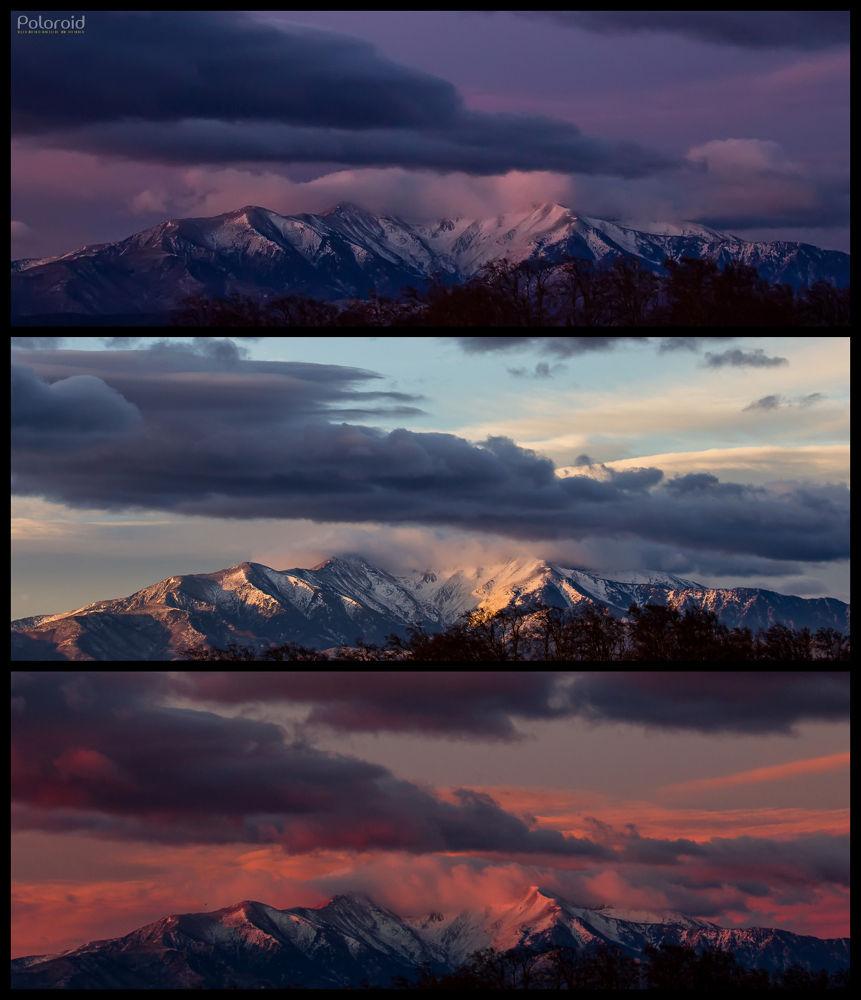 Canigou Triptyque Sunrise by poloroid