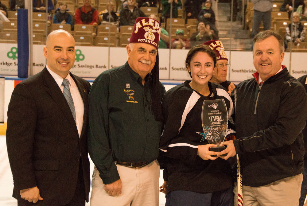 Shriners All Star Classic, The Potentate and the MVP from the Girls game by Seth Hunter