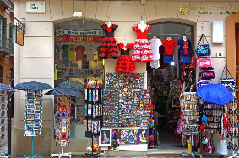 Tienda de souvenirs en Málaga by Andrés J. Flores Alés Veterinario