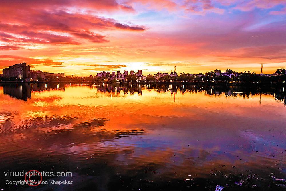 Warm Evening. by Vinod Khapekar