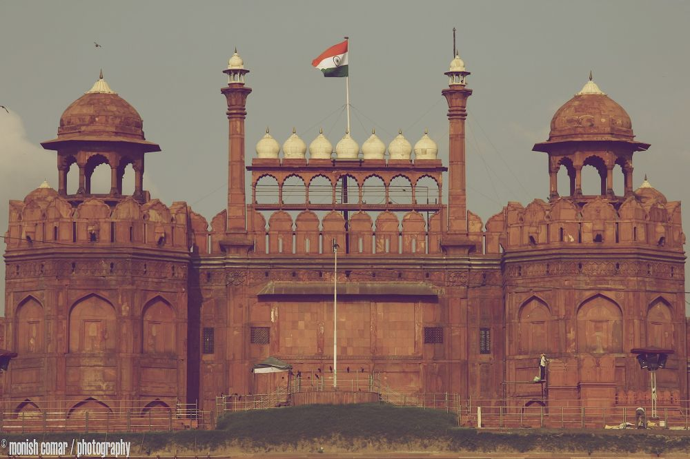 Red Fort, Old Delhi, India by monishcomarphotography