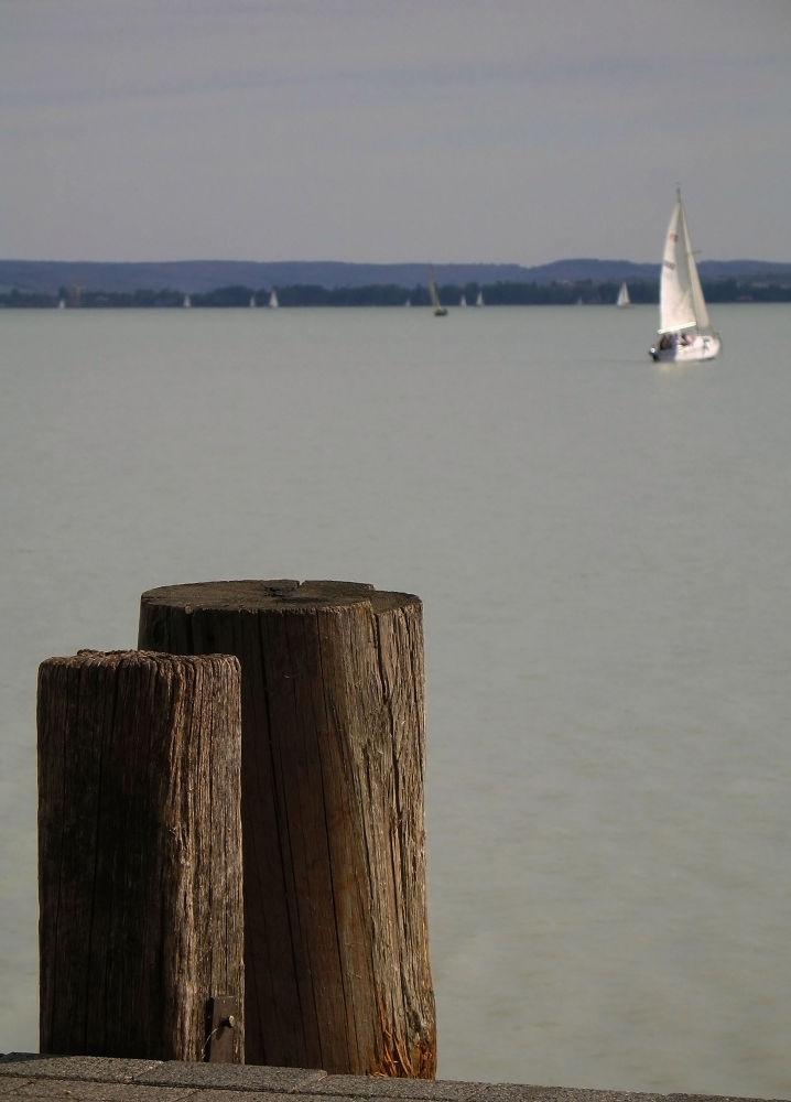 white sail by Beáta Csősz-Rada