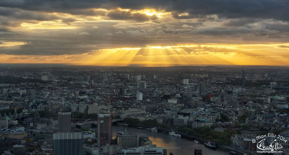Sunset Over London by Max Ellis