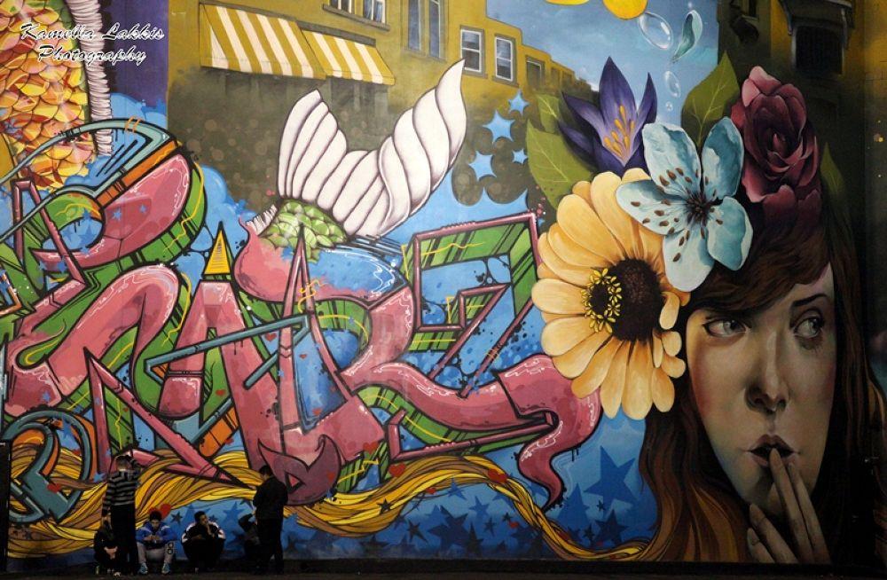 O1NE Night Club - Beirut  .....  2500 sqm Graffiti by 16 Talented Graffiti Artists From All Around T by Kamella Lakkis
