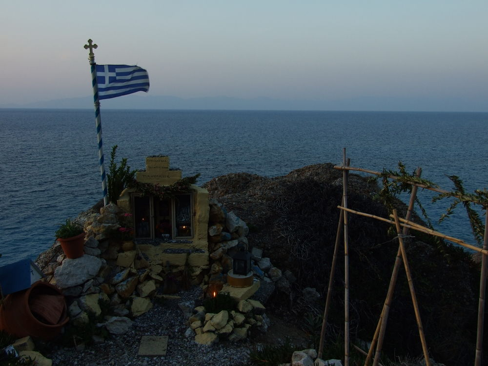 Improvised chapel by Michail Vekiaris