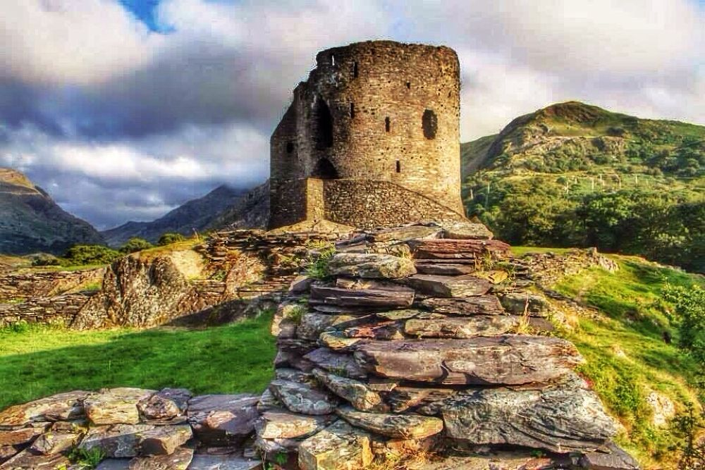 Dolbadarn Castle, North Wales by Sanie Sotto